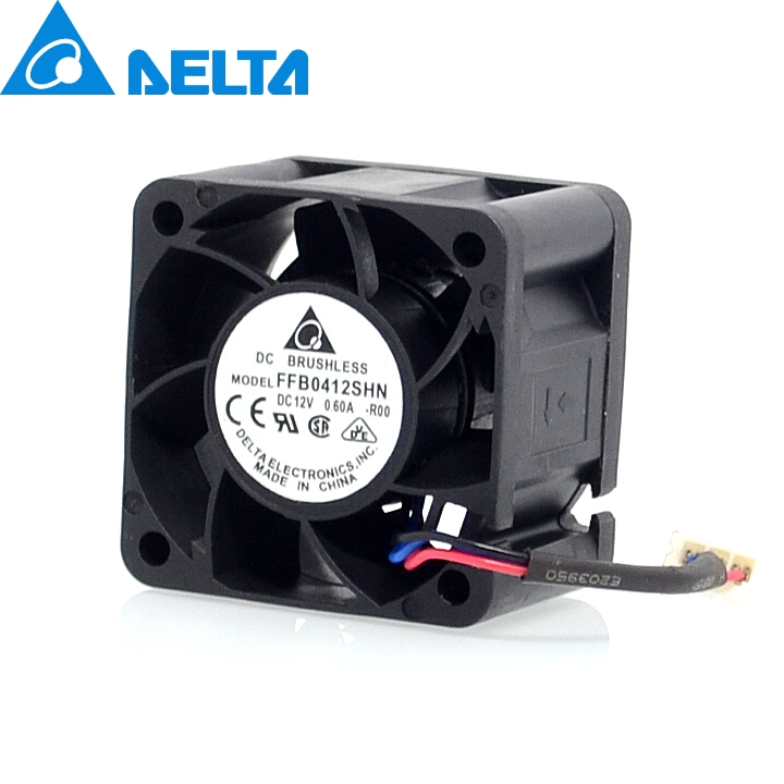 Delta Original new FFB0412SHN-ROO 4cm 4028 0.6A fan speed stall alarm servers for  40*40*28mm купить дешево онлайн