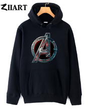 Avengers 2 Age of Ultron Logo couple clothes girls woman female autumn winter cotton fleece hoodies