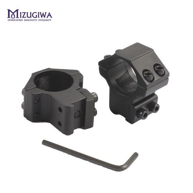 "MIZUGIWA Mount Rings 25.4mm 1"" Ring 11mm Rail Dovetail Mount fit Laser Light Scope Low Profile Pistol Adapter Hunting Caza"