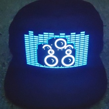 Party Led Lights Sound Activated Glow In Dark Hat Light Up L