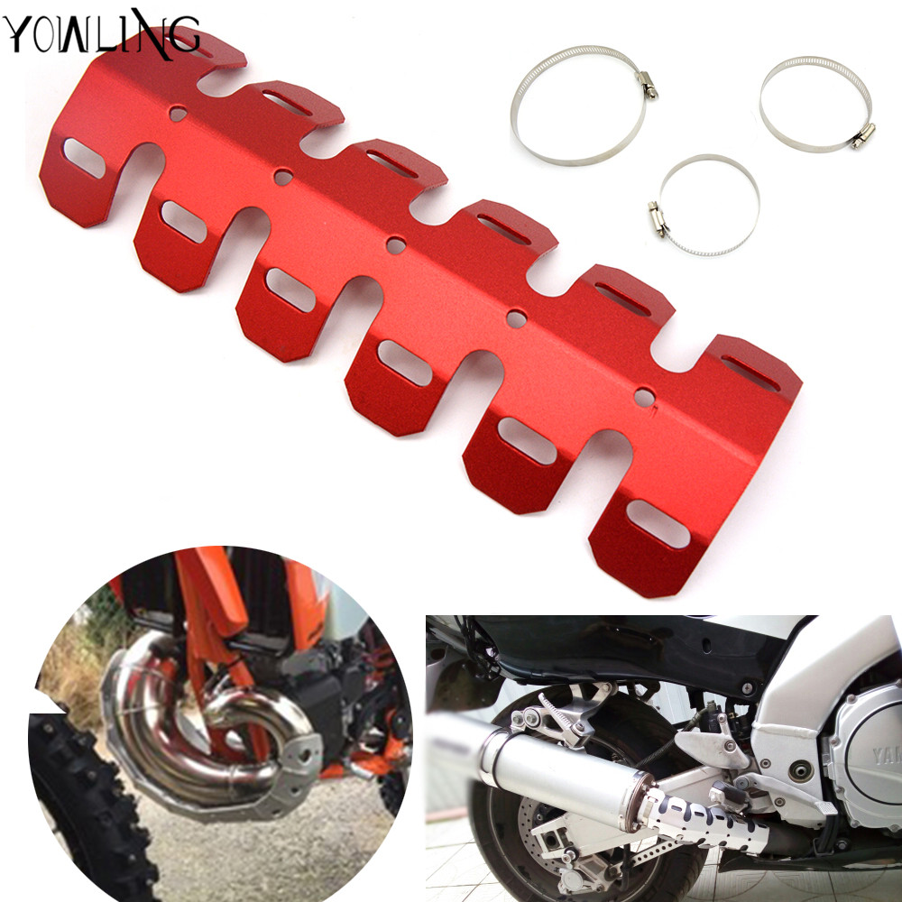 49cm Motorcycle Exhaust Muffler Pipe Leg Protector Heat Shield Cover For Suzuki Rm Rmz Rmx Dr Drz Djebel 85 125 250 400 Xc Sb R Motorcycle Accessories & Parts