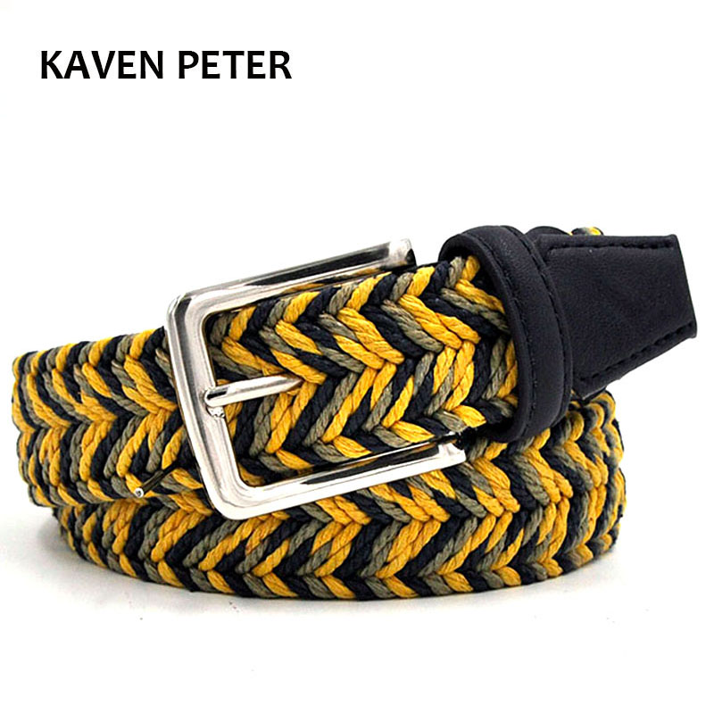 The Newest Man Braided Design Belt Fashion Men's Braided Belts With Wax Rope Material Mixed Color Free Shipment