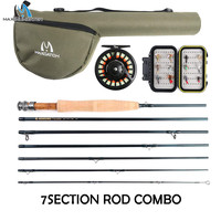 Maximumcatch 7 8Sec Travel Fly Fishing Rod Combo 6/7/8WT 9ft Graphite IM10/30T+36T Carbon Fiber Fly Rod with Fly Reel Kit