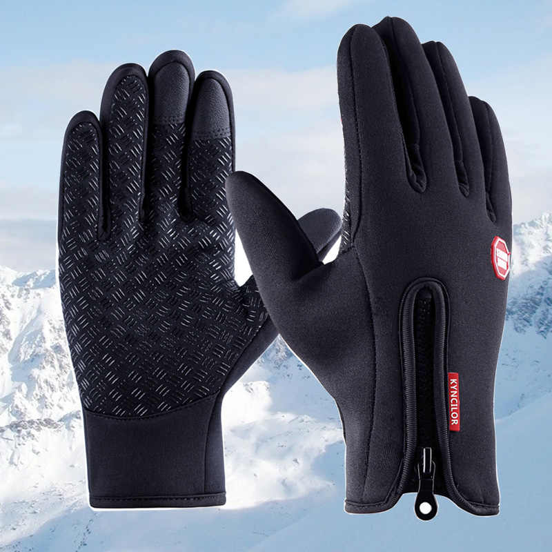Winter Sports Bike Bicycle Cycling Thermal Warm Fleece Lined Gloves Touch Screen