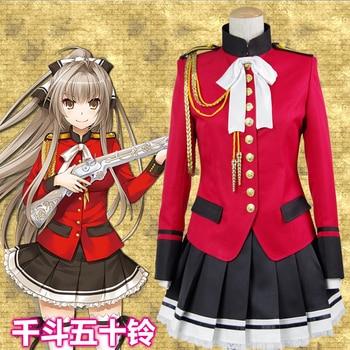 Anime! Amagi Brilliant Park Sento Isuzu Red Lovely School Uniform Cosplay Costume Full Set Daily Suit For Women Free Shipping