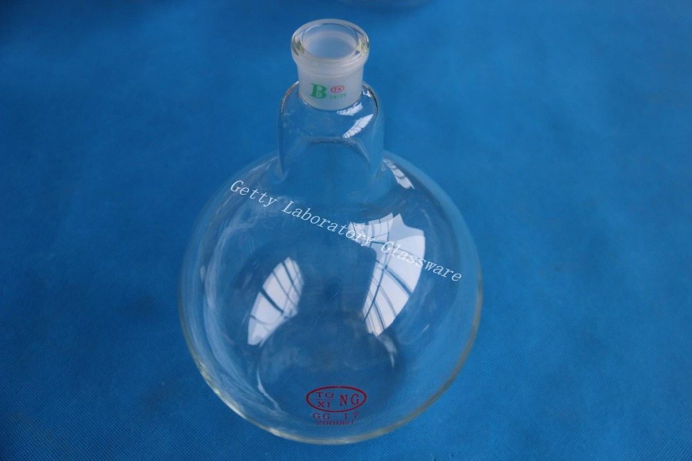 цена на 2L Flat bottom flask, single neck, 2000ml, heavy wall, 24/29 joint,Borosilicate Glass 3.3 Material