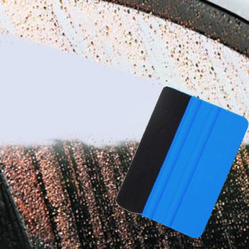 Niebieska gumowa ściągaczka folia winylowa do owijania narzędzie skrobak do tkanin narzędzia do barwienia szyba okienna narzędzia do mycia Auto przyrządy do czyszczenia samochodu akcesoria tanie i dobre opinie Całego ciała Inne 3d carbon fiber vinyl 9 9cm Other 7 2cm Nie pakowane