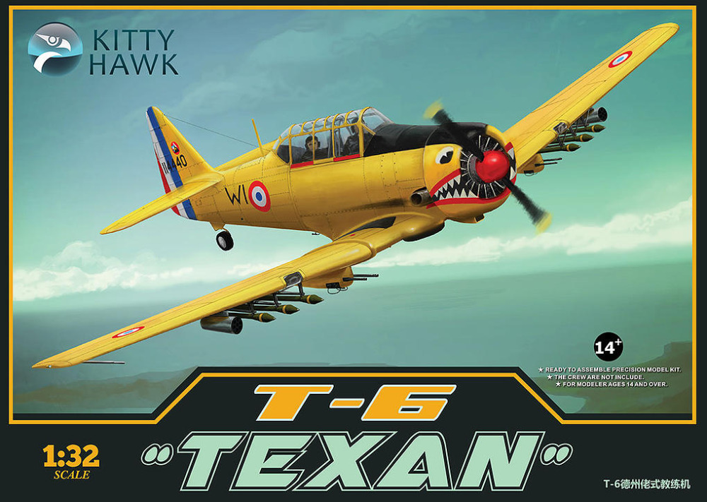 KITTY HAWK 1/32 North-American T-6 Texan Aircraft #KH32002 топор туристический kangee t hawk orange