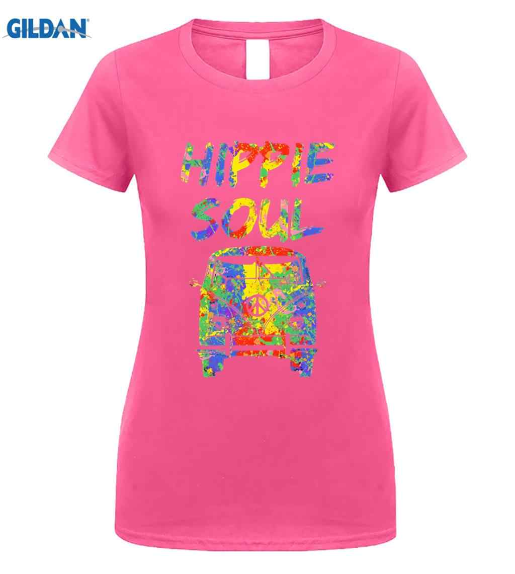 c51099a5e3bf GILDAN Hippie Soul Shirt Vintage Colorful Paint Van T-Shirt Peace Men s  2019 Summer Style Brand Apparel Casual Men s T-shirt