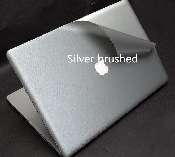Специальные виниловые наклейки для ноутбука из углеродного волокна для ASUS G75 G75VW G75VX 17,3 дюйма - Цвет: Silver Brushed