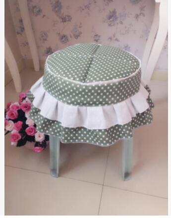 Little cotton fabric with cotton thickening stool chair cover chair dust cover customized size