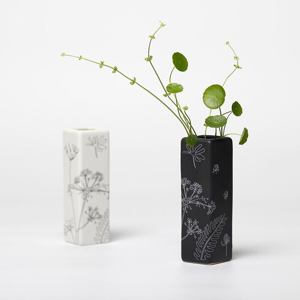 popular small black vasesbuy cheap small black vases lots from  - creative adornment flower vase black white square small vase deskfurnishings ceramic storage water vase best