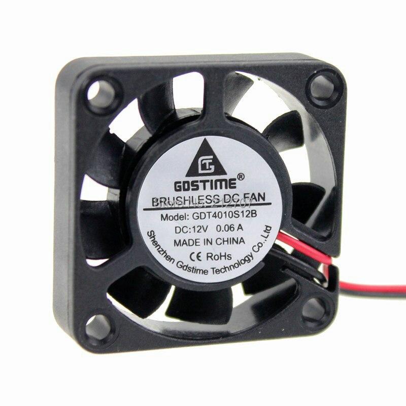 100 шт. Gdstime DC 12 В 2Pin 4010 40 мм 4 см 40x40x10 мм 9 лопастей компьютер осевой вентилятор охлаждения