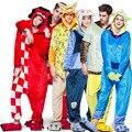 Взрослых Единорог Пижамы Onesies Женщины Мужчины Теплые Зимние Пижамы Плюс Размер Пижамы Аниме Sleepsuit Косплей Костюм