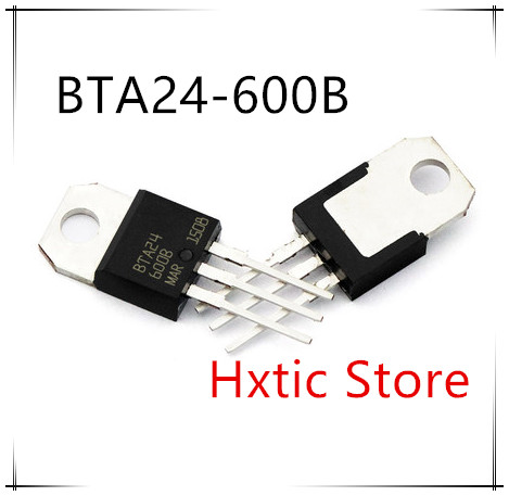 10pcs Free Shipping BTA24-600B BTA24-600 BTA24 Triacs 25 Amp 600 Volt TO-220 New Original