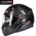 2016 ls2 ff396 fibra de carbono de la cara llena de motos cascos de moto genunie airbags bomba 100% original casco ls2 del casco de doble visera