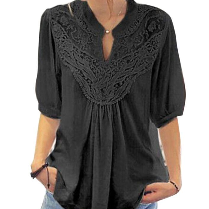 womens blouse autumn hot sale hollow out tops v neck sexy shirts solid sexy slim comfortable female clothing vintage shirt in Blouses amp Shirts from Women 39 s Clothing