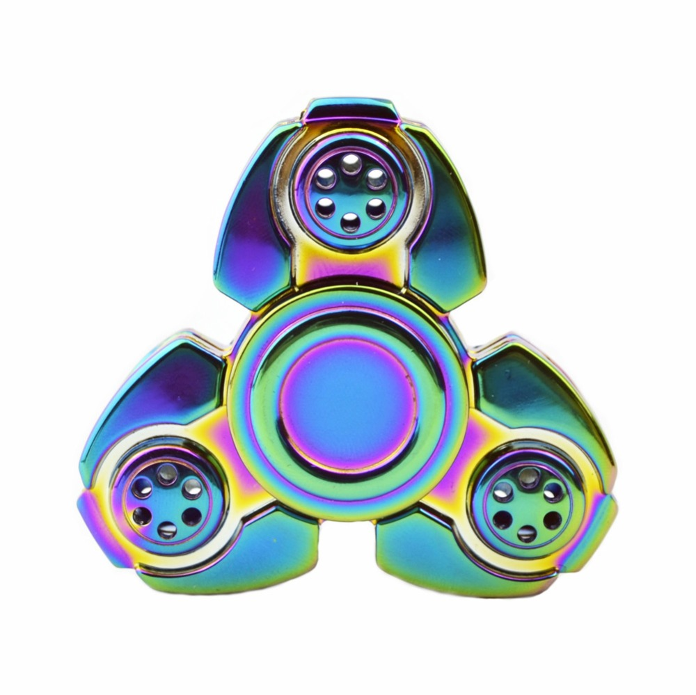 High Quality CFK Colorful Fidget Spinners Funny Hand Spiner Toy EDC Tri Spinner Rotation Stress Spinner