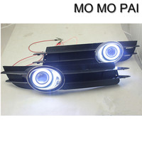 Car styling 2x LED Daytime Fog Lights Projector angel eye kit Fit for Audi A6 A6L C5 2005 - 2008