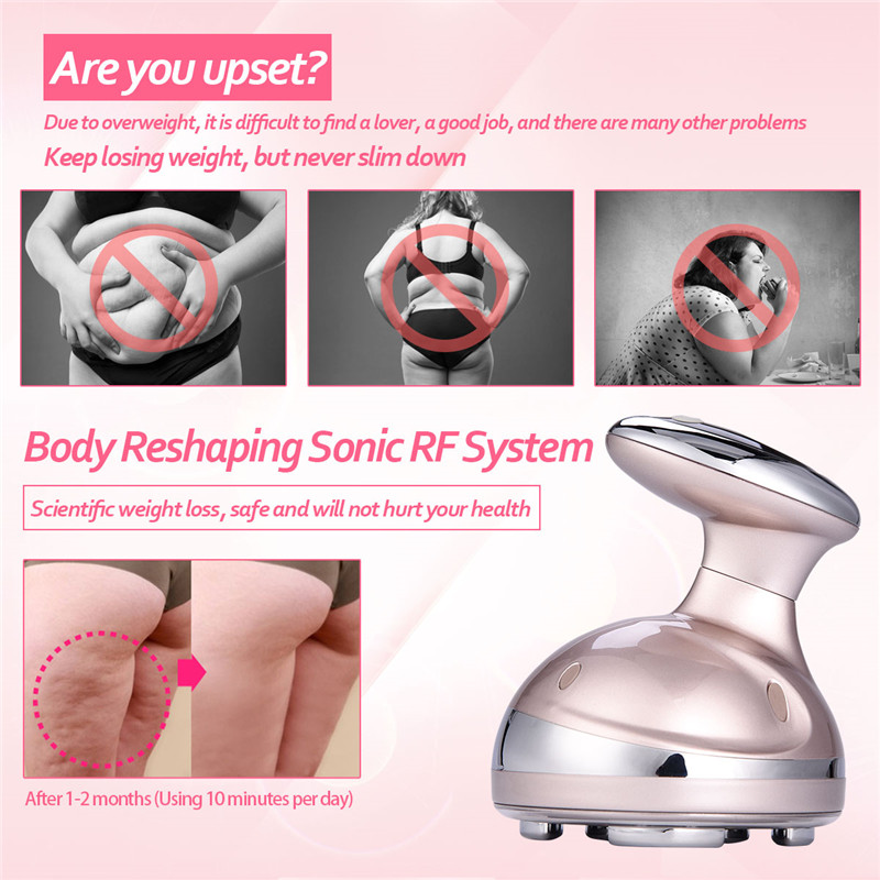 LCD Ultrasonic Body Slimming Massage Machine Cavitation Fat Removal Photon Radio Frequency RF Therapy Weight Lose