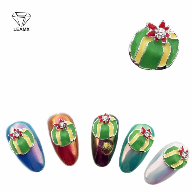 LEAMX 3d Nail Art Christmas New Year Decoration 2018 Rhinestones For Nails  Charms Nails Accessoires 10pcs Designers Gift Box 82f6a18ccb88
