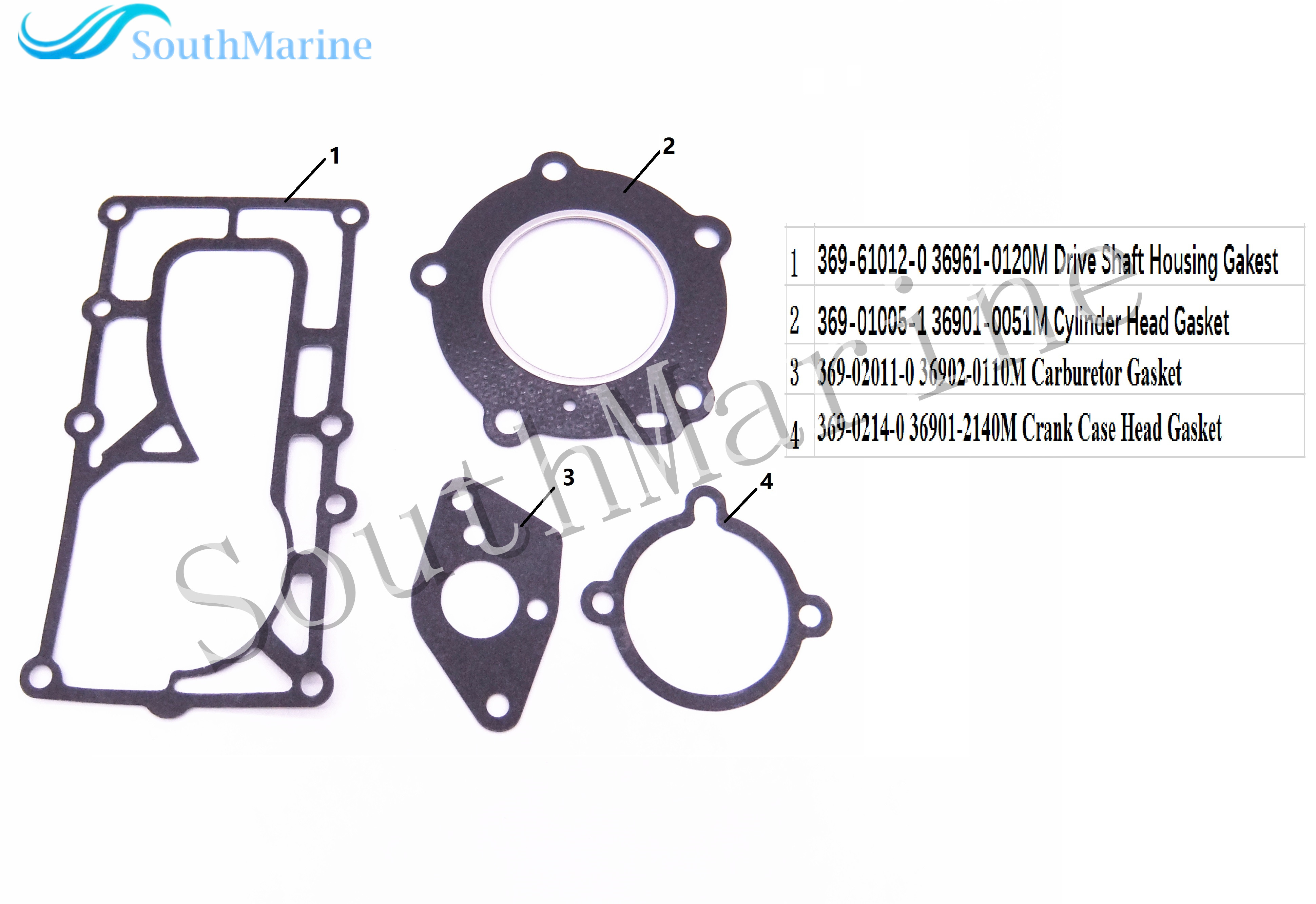 Complete Power Head Seal Gasket Kit for Tohatsu Nissan 4HP 5HP Outboard Engine