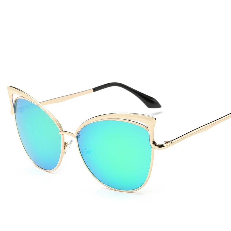 Metalowe różowe okulary Cat Eye Okulary przeciwsłoneczne damskie - Akcesoria odzieżowe - Zdjęcie 2
