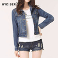 2016 New brand Spring Winter Short Denim Solid Jackets Vintage Casual Coat Slim Denim Jacket For Women Jeans Plus Size S-4XL