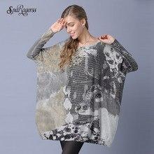 960740f36e SpaRogerss 7XL Women Sweaters 2018 New Fashion Big Woman Spring Pullovers  Lady Sweater Sleeve Plus Size