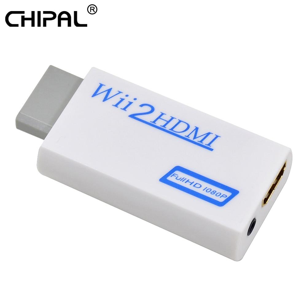 Chipal wii2hdmi adaptador para wii ao conversor hdmi suporte completo hd 720p 1080p 3.5mm saída de vídeo de áudio para exibição do monitor hdtv