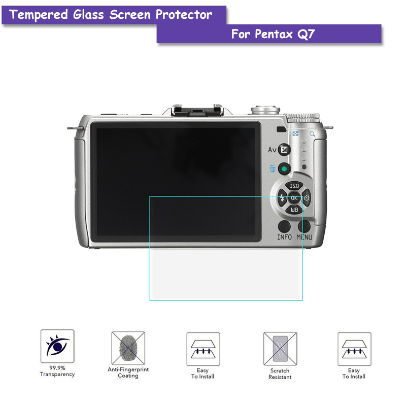 9H Tempered Glass LCD Screen Protector Real Glass Shield Film For Pentax Q7 Q-7 Camera A ...