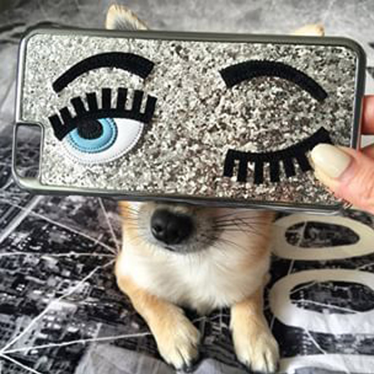 2015 3D New fashion luxury MISS Gossip Chiara sequins following Ferragni blinking case iphone 6 Plus 5 5s - Global HK Online Store store
