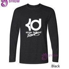 cc7a11e81 High quality brand men kevin durant T shirt casual long sleeve o-neck fashion  printed