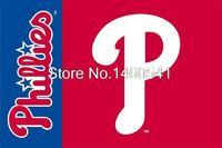 Philadelphia Phillies Wordmark Flag 3ft X 5ft Polyester MLB Philadelphia Phillies Banner Size No 4 144