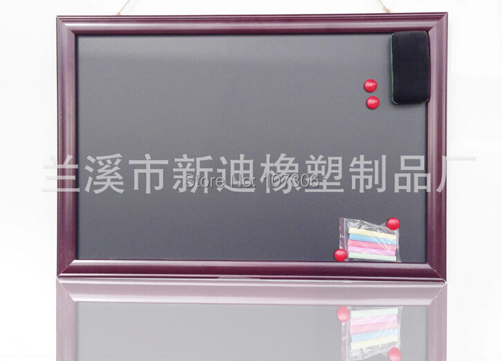4363cm magnetic blackboard with photo frame wooden chalkboards with magnetic christmas gift new
