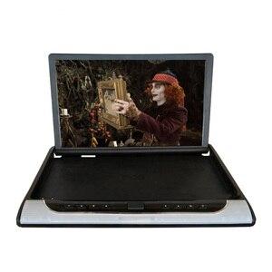 Image 4 - 19 дюймовый монитор HD 1080P, потолочный ТВ для автомобиля, откидной монитор, MP5 плеер, поддержка USB/SD/HDMI/Sperker/IR/FM передатчик