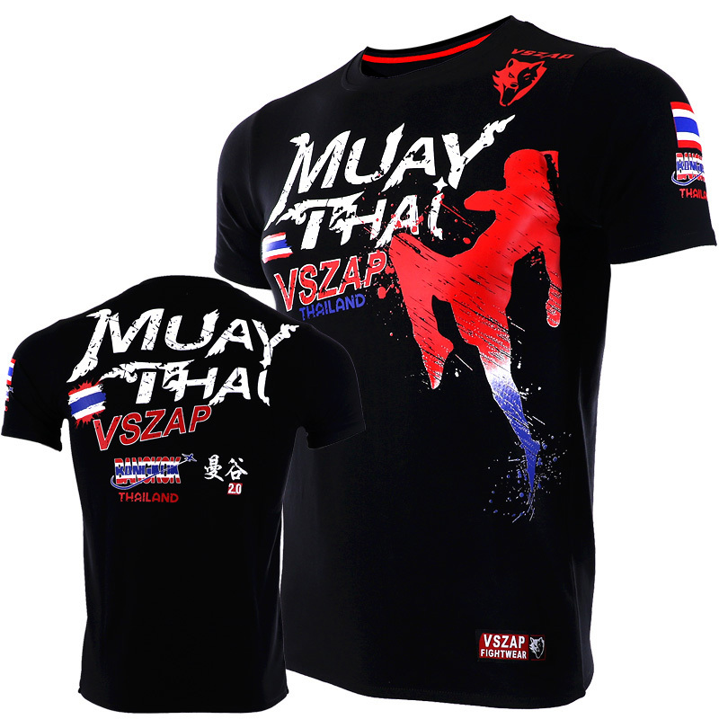 VSZAP MuayThai Bangkok 2,0 T Shirts MMA Fitness Pullover Boxing Trikots Muay Thai Trikots MMA Jersey