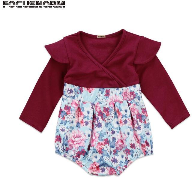 d922f66827e8 Aliexpress.com   Buy Newborn Toddler Floral Baby Girl Autumn ...