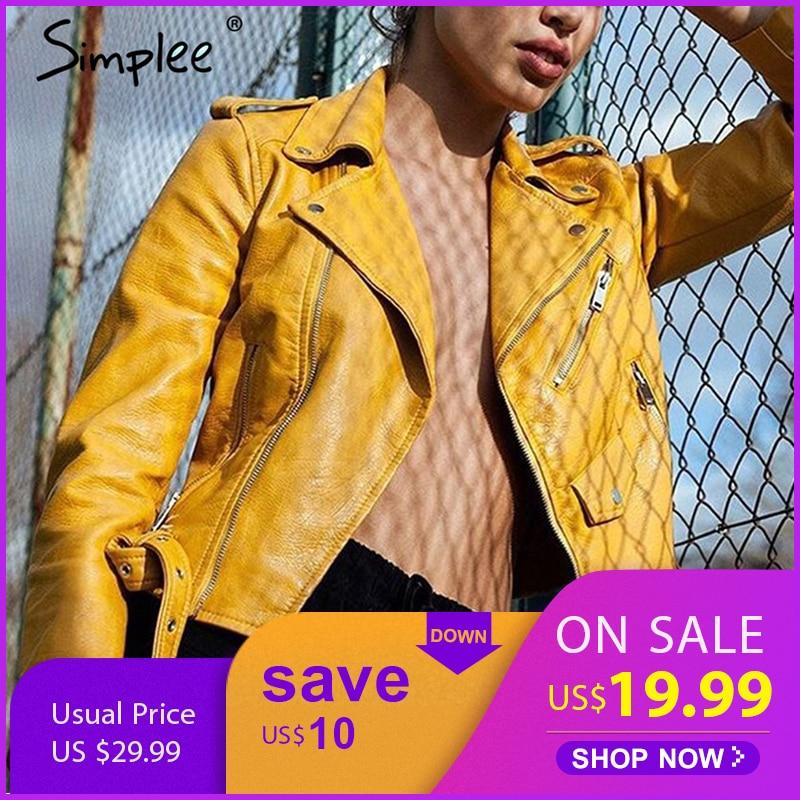 e Zipper Pu   Basic     Jacket   Coat Classic Leather   Jacket   Women Winter Outerwear & Coats Short Black Motorcycle   Jacket