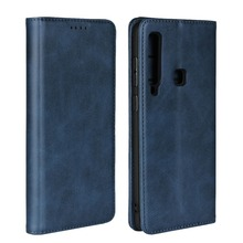 LUCKBUY Classic Business Leather Flip Book Case For Samsung Galaxy A9 2018 A8 NOTE 8 S8 S9 Plus Feel SC-04J SC-02L Cover