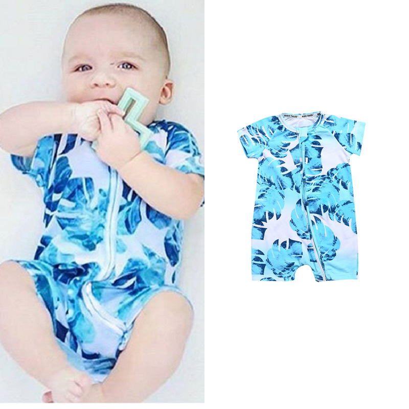 2018 Cotton Baby Clothes Summer Baby Girl Boy Rompers Newborn Infant Jumpsuits Shortsleeve Roupas Bebe Casual Kids Clothing
