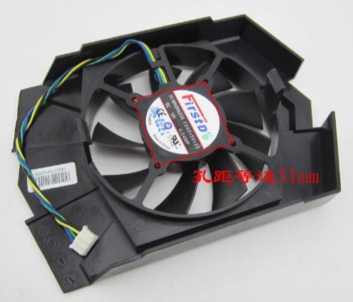 GT740-OC-2GD5/GTX 750Ti FD8015U12S ventilador de la tarjeta gráfica