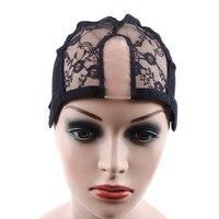 новая мода у часть парик шапки с кружевом сеть для изготовления парики с регулируемыми ремнями 1 шт./лот gluless парик шапки для изготовления париков