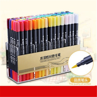 Double head Coloring Brush Pen 48 Color Set Flexible Brush Marker Water Color Pen Liquid- Ink Painting Supplies