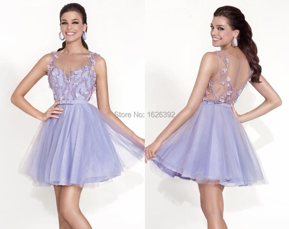 Popular Lavender Cocktail Dress-Buy Cheap Lavender Cocktail Dress ...