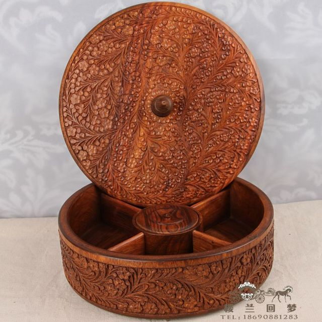 Classical Pure Hand Carved Antique Walnut Whole Wooden Handicrafts