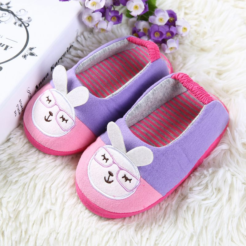 Cute Rubbit Kids Slippers Children Home Shoes Baby Shoes