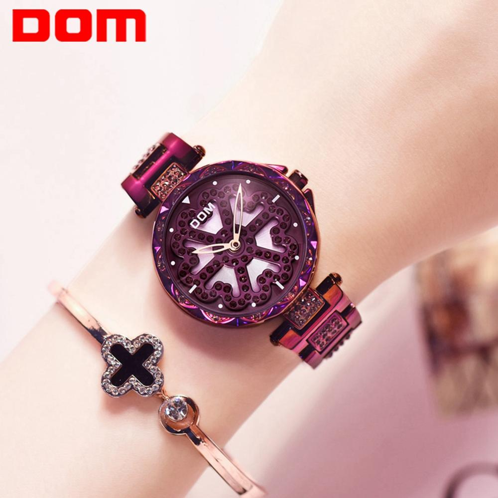 DOM Brand Luxury Women Watches Waterproof Fashion Watch for Woman Ladies Wrist Watch Relogio Feminino Montre FemmeG-1258PK-6MX