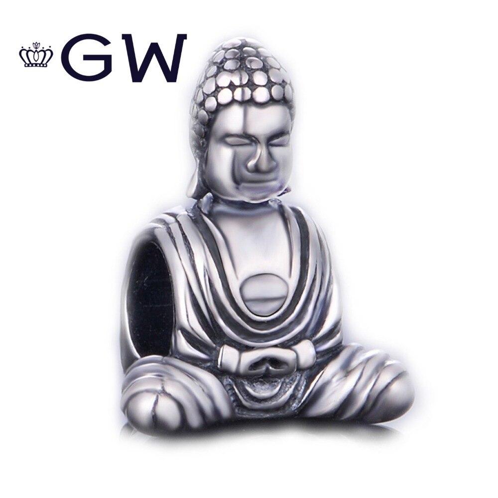 Buda religião charme para DIY acessório pingente 925 sterling silver jewelry serve pulseira bijuterias T085H10 GW
