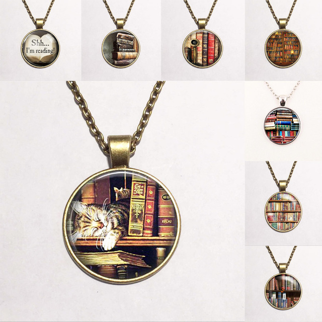 799cea97be2 Library Book Case NecklaceVintage Style Gift for Students Teachers and Librarians  Necklace